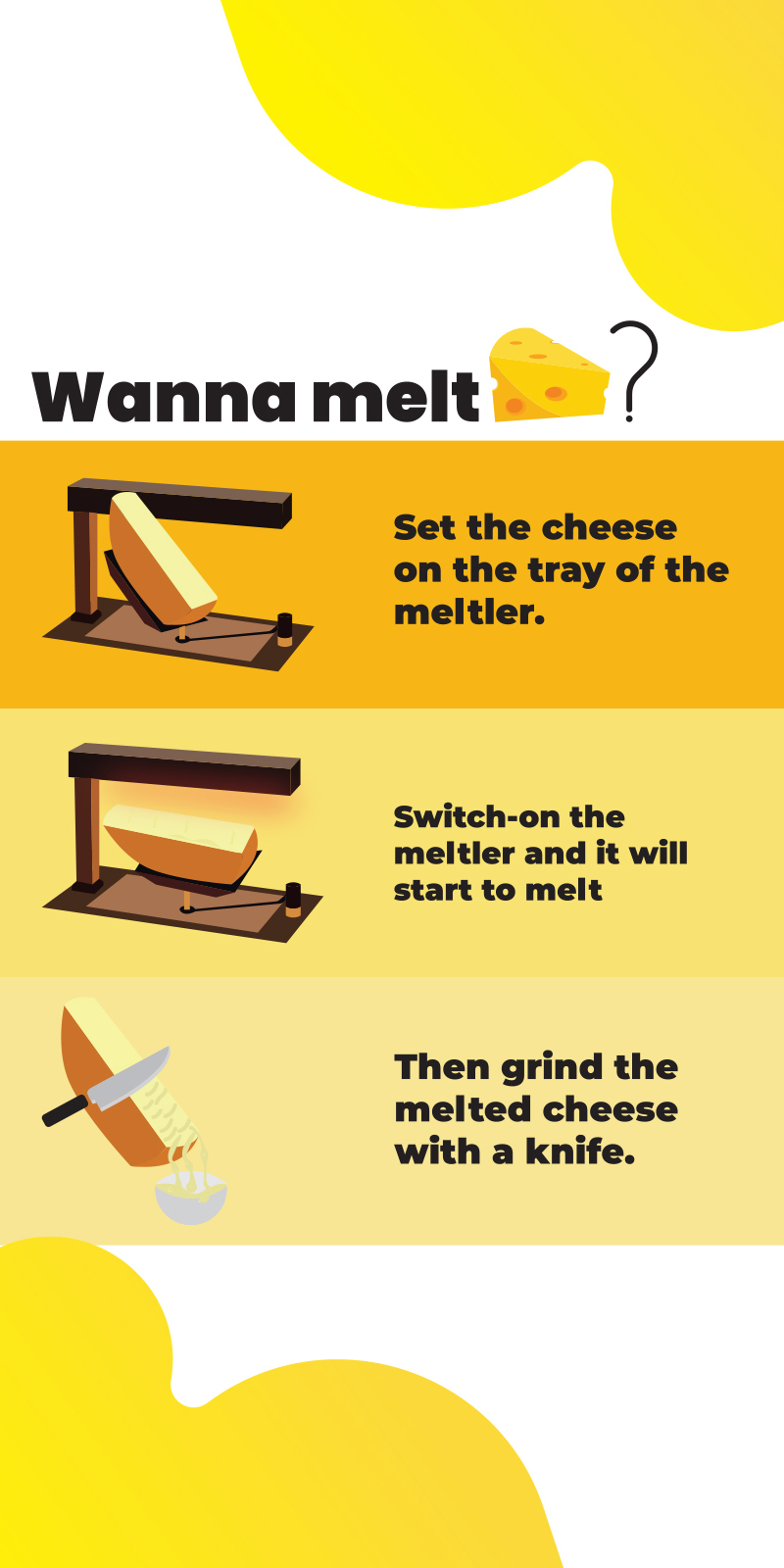 How to melt cheese in raclette cheese melter?